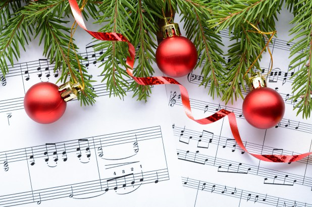 Sheet Music and Christmas Tree