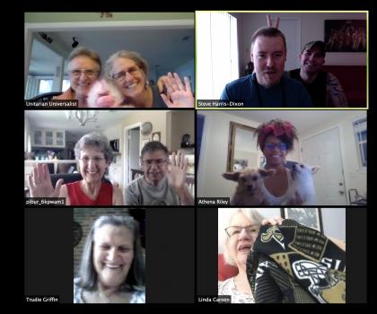 Screenshot from virtual coffee hour